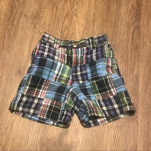 Boys Gymboree Madras Plaid shorts GUC